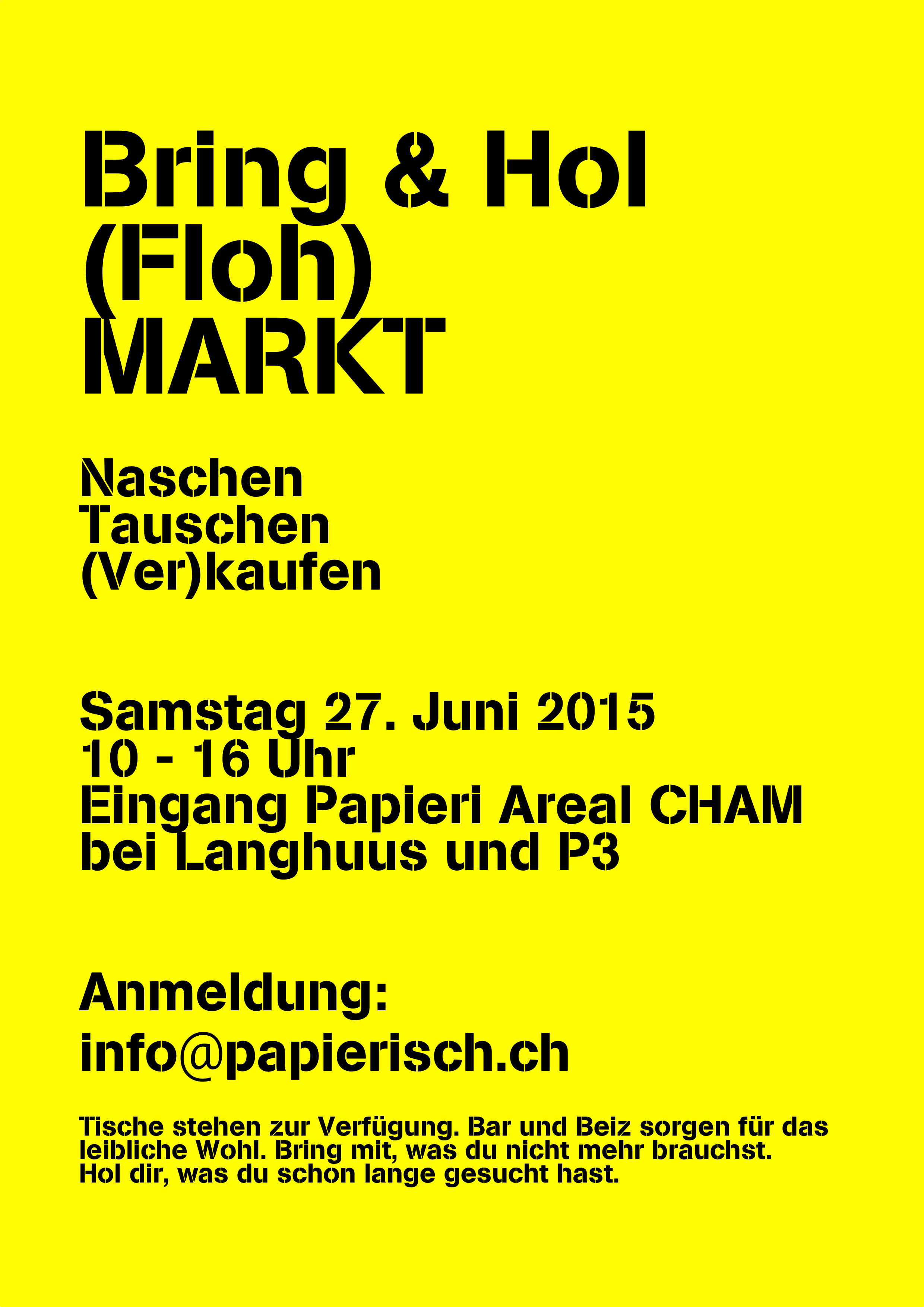 Langhuus Workshop 3 und Flohmarkt