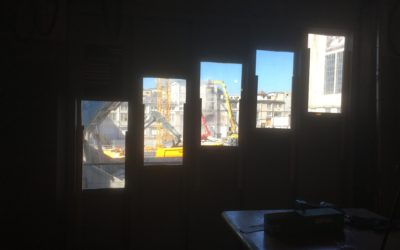 Aussicht auf die Baustelle