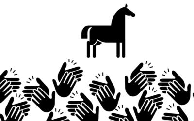 Applaus für ein Pferd am 7. August